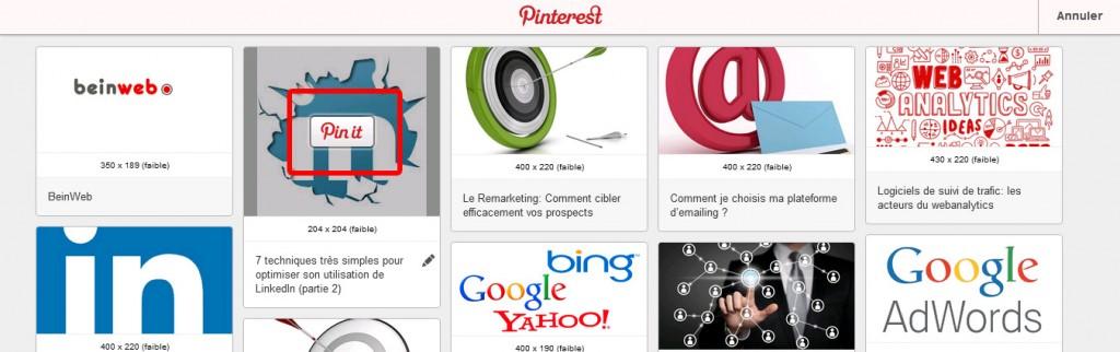 Installez le plugin Pinterest !
