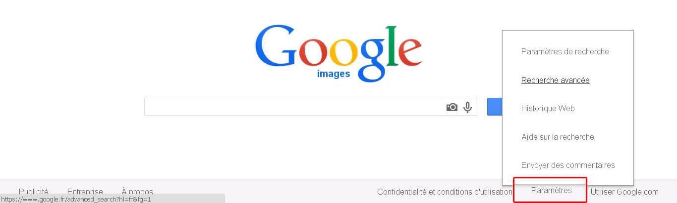 Utilisez les images libres de droits de Google Image