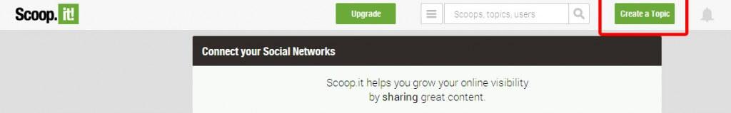 Créer un topic sur Scoop.it