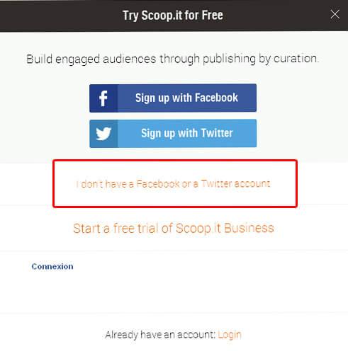 Comment créer un compte Scoop.it