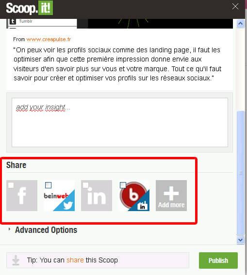 Scoopez un article depuis votre extension Scoop.it