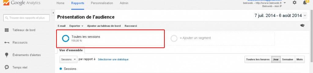 Ajouter un segment avancé sur Google Analytics