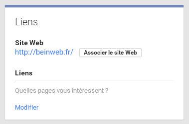 Associer votre site web à votre Page Google Plus