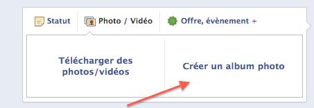 Comment créer un album photos sur Facebook