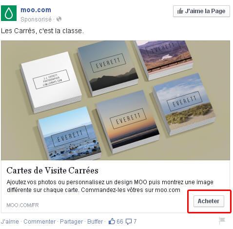 Bouton d'appel à l'action Acheter pour votre stratégie Facebook