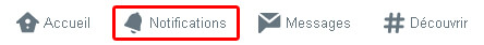 Nouvel onglet Notifications Twitter