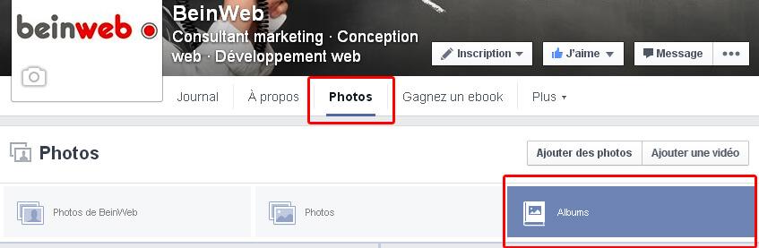 Ou trouver vos photos sur votre page Facebook