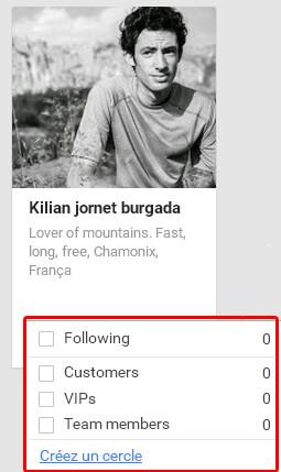 Comment ranger vos contacts dans vos cercles Google Plus