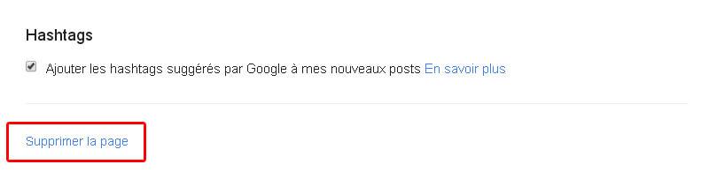 Comment supprimer votre page Google Plus