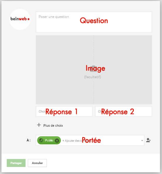 Les étapes de la création d'un sondage Google Plus