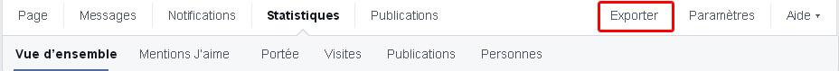 Exporter ses statistiques Facebook
