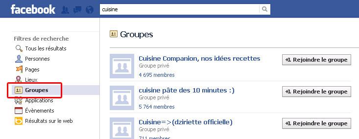 Rejoignez des groupes sur Facebook !