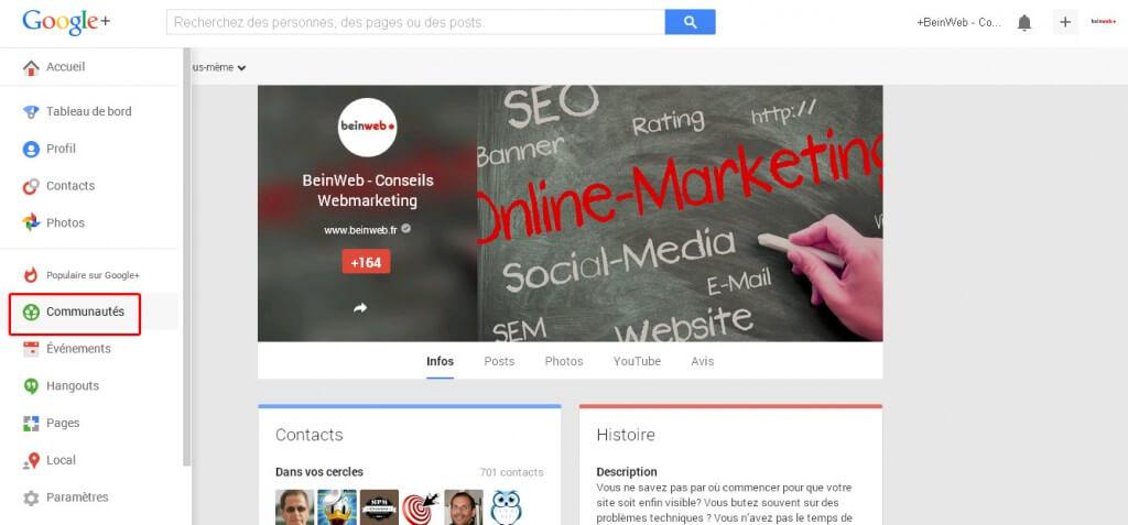 Profitez des communautés Google Plus !