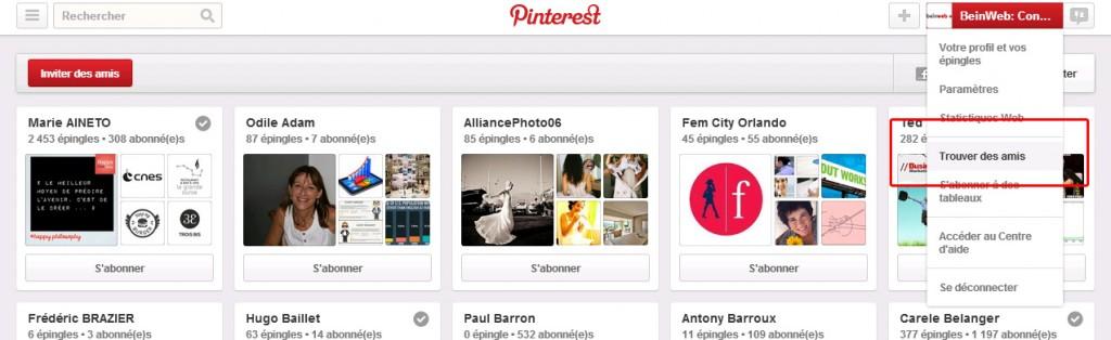 Trouvez des amis sur Pinterest !