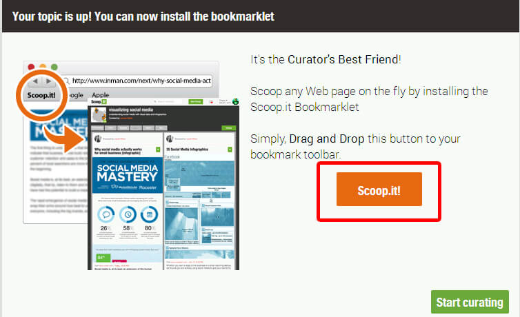 Installer le bookmarklet scoop.it
