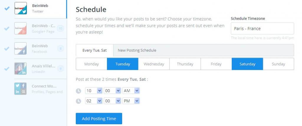 Plannifiez vos posts sur Buffer