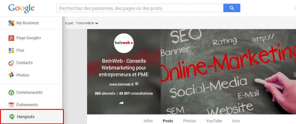 Créer un hangout sur Google Plus