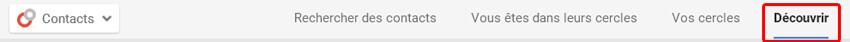 Ajouter des contacts à votre page Google Plus