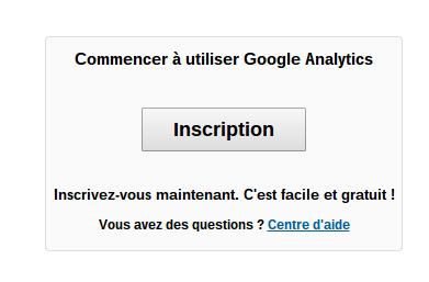 Comment s'inscrire sur Google Analytics