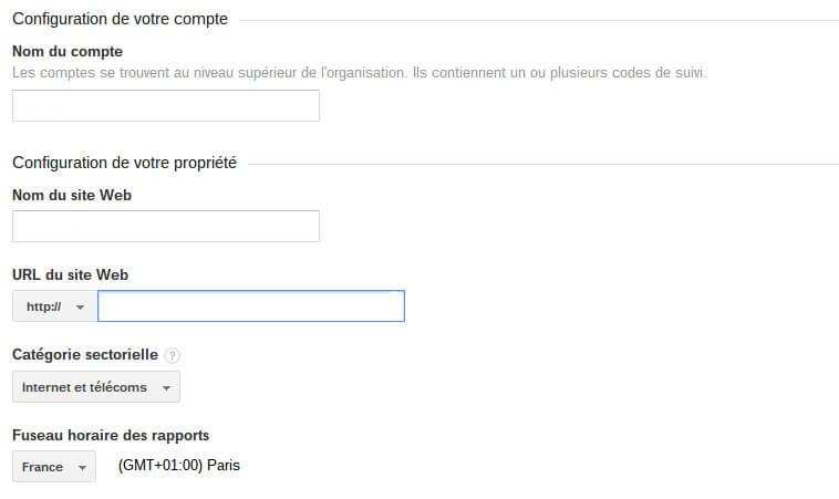 Configuration de votre compte Google Analytics