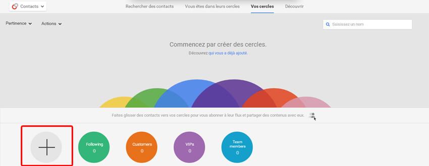Comment créer un cercle sur Google Plus