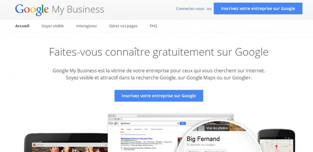 Créer un compte Google My Business