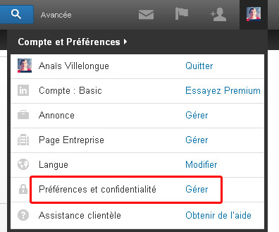 preferences-et-confidentialite-linkedin